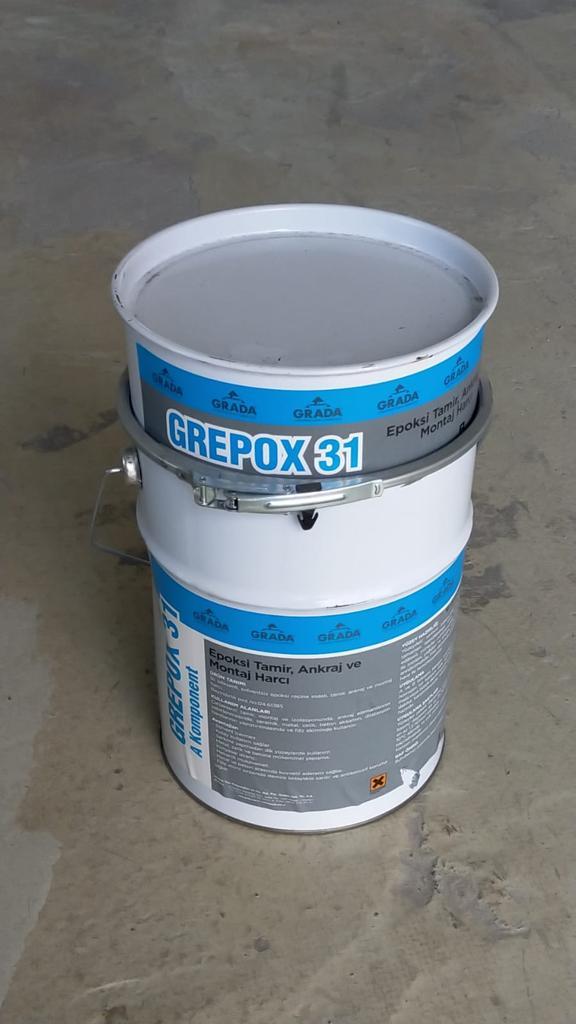 GREPOX 31 Epoksi Esaslı Tamir, Ankraj ve Montaj Harcı
